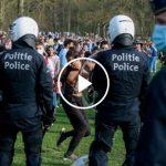Brussels Police Disperse April Fool's Music Festival Crowd